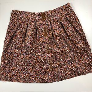 ELEVENSES ANTHRO | Confetti Velvet Button Skirt 10